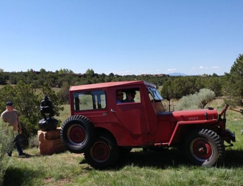 I got to ride in a 1947 Willy's Jeep!